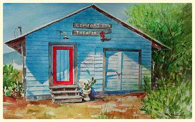 Mike Martin Painting - little Theater by Mike Martin