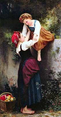 Painting - Little Thieves 1872 by William Bouguereau