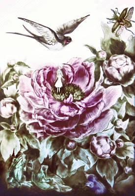 Painting - Little Tiny Or Thumbelina  by Elena Vedernikova