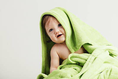 Photograph - Little Toddler Covered In Cozy Blanket. by Michal Bednarek