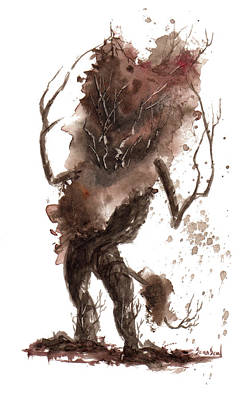 Goblin Painting - Little Tree 45 by Sean Seal