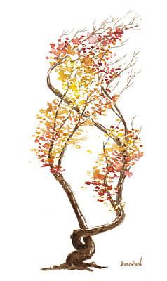 Little Tree 49 Art Print by Sean Seal