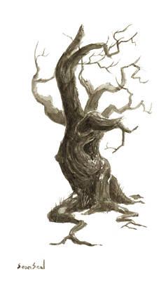 Little Tree 78 Art Print by Sean Seal