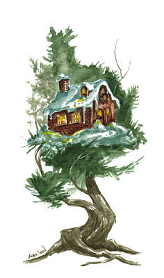 Dickens Painting - Little Tree 98 by Sean Seal
