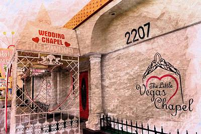 Mixed Media - Little Vegas Wedding Chapel by Bob Pardue