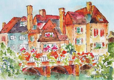 Colmar Wall Art - Painting - Little Venice Colmar France by Pat Katz