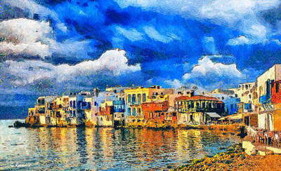 Wetland Painting - Little Venice by George Rossidis