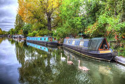 Photograph - Little Venice London Narrow Boats by David Pyatt