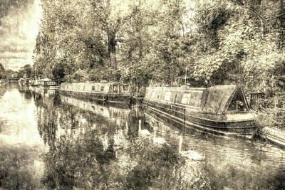 Photograph - Little Venice London Vintage by David Pyatt