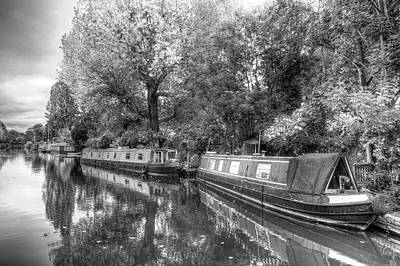 Photograph - Little Venice Narrow Boats by David Pyatt