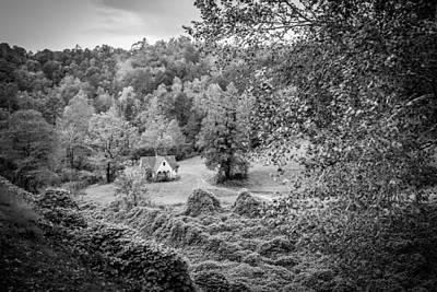Photograph - Little Victorian Farm House In A Mountain Field by Kelly Hazel