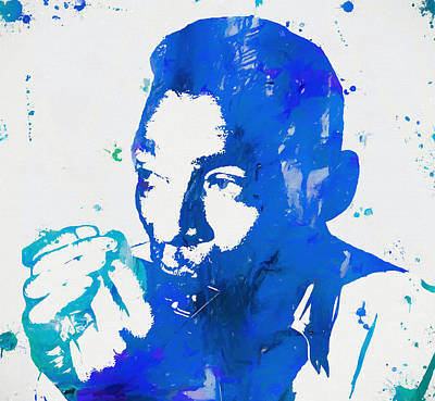 Music Paintings - Little Walter Paint Splatter by Dan Sproul