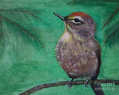 Painting - Little Warbler by Leslie Allen