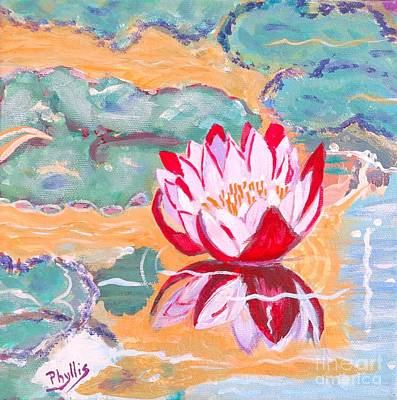 Painting - Little Water Lilly  by Phyllis Kaltenbach