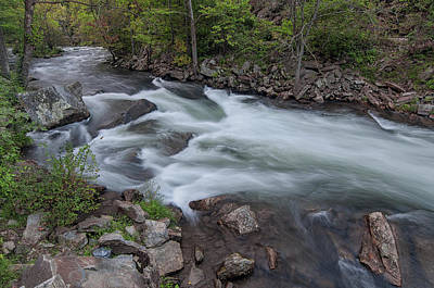 Photograph - Little Wesser Falls by Daryl Clark