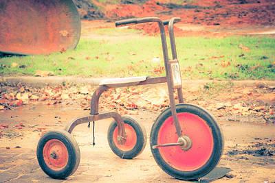 Little Wheels Art Print by Toni Hopper