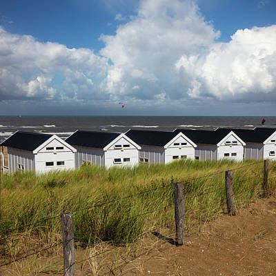 Photograph - Little White Beach Houses by Debra and Dave Vanderlaan