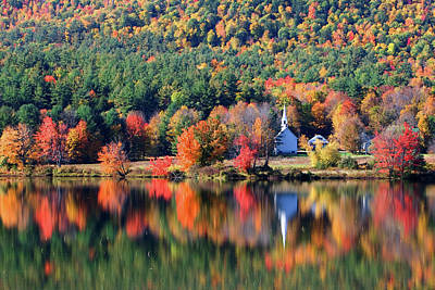 Photograph - 'little White Church', Eaton, Nh	 by Larry Landolfi