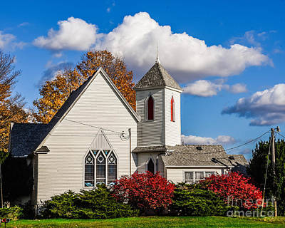 Photograph - Little White Church by Grace Grogan