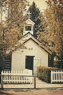 Photograph - Little White Church by Maria Angelica Maira