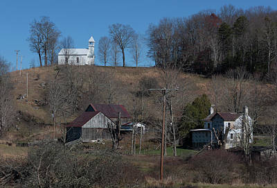 Photograph - Little White Church On The Hill II by Suzanne Gaff