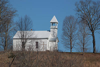 Photograph - Little White Church On The Hill by Suzanne Gaff