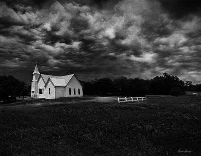 Photograph - Little White Church On The Prairie by Anna Louise