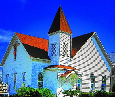 Photograph - Little White Church by Sheri McLeroy