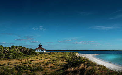 Florida House Photograph - Little White Lighthouse by Marvin Spates