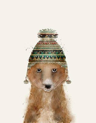 Painting - Little Winter Fox by Bleu Bri
