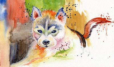 Painting - Little Wolf Watercolor by Melly Terpening