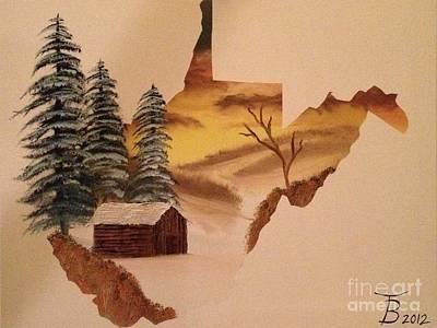Little Wv Cabin Art Print by Tim Blankenship