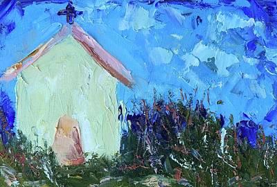 Painting - Little Yellow Church by Cheryl Green