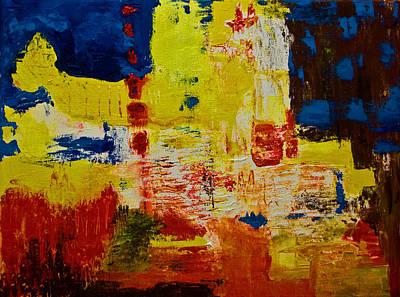Painting - Little Yellow Crying Whale by Gabi Dziok-Grubb