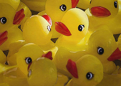Photograph - Little Yellow Duckies by Sharon Foster