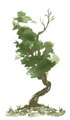 Little Zen Tree 177 Art Print