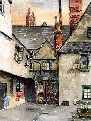 Littlemore Court. Oxford. Art Print by Mike Lester