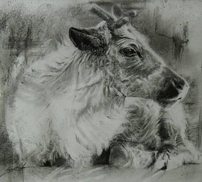 Littlest Reindeer Art Print by Susie Gordon