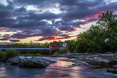 Photograph - Littleton Sunset On The Rocks by Chris Whiton