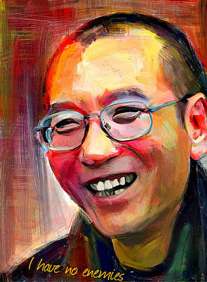 Digital Art - Liu Xiaobo Tribute Portrait by Yury Malkov