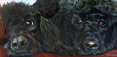Wall Art - Painting - Liv And Riley by Leslie Rock