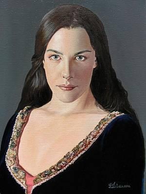 Liv Tyler Painting - Liv Tyler As Arwen by Yulia Litvinova