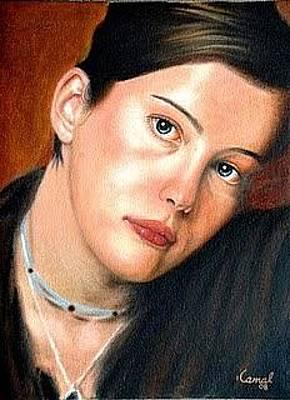 Liv Tyler Painting - Liv Tyler By Kamal Bhandari by Kamal Bhandari