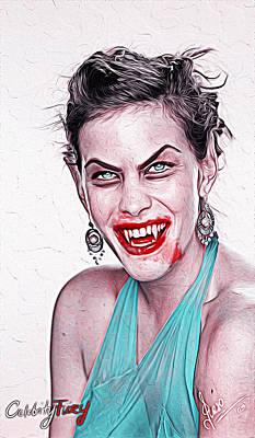 Liv Tyler Painting - Liv Tyler by Gene Spino