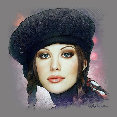 Liv Tyler Drawing - Liv Tyler by Michael Shifflett