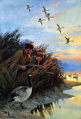 Painting - Live Decoys by Frank Stick