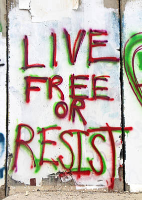 Painting - Live Free Or Resist by Munir Alawi