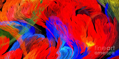 Digital Art - Live Free Under The Sea Abstract Panorama by Andee Design