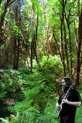 Photograph - Live From The Fern Grove #1 With A Raccoon, Cedar Waxwing And A Butterfly by Ben Upham