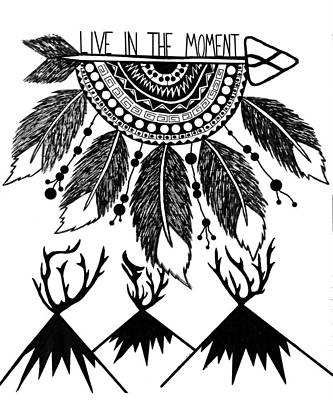 Live In The Moment Art Print by Heather Longley